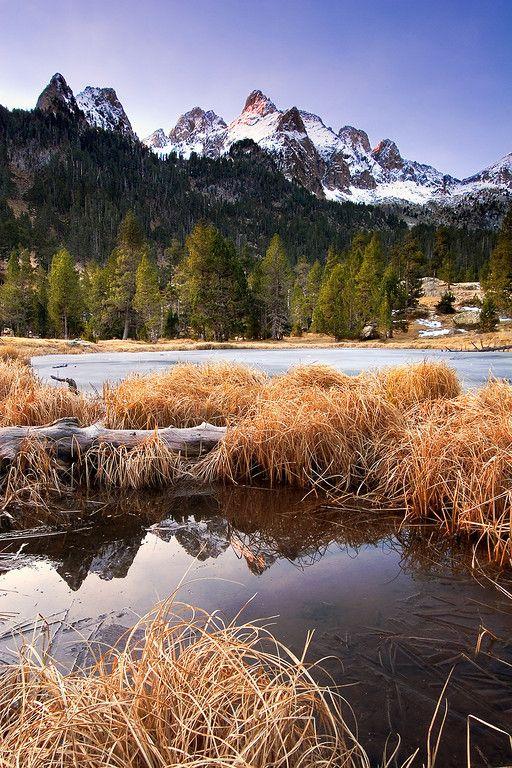 Landscape Nature Reflejos De Montaña P Nt Posets Maladeta Huesca Aragón Montañas Aragón Huesca