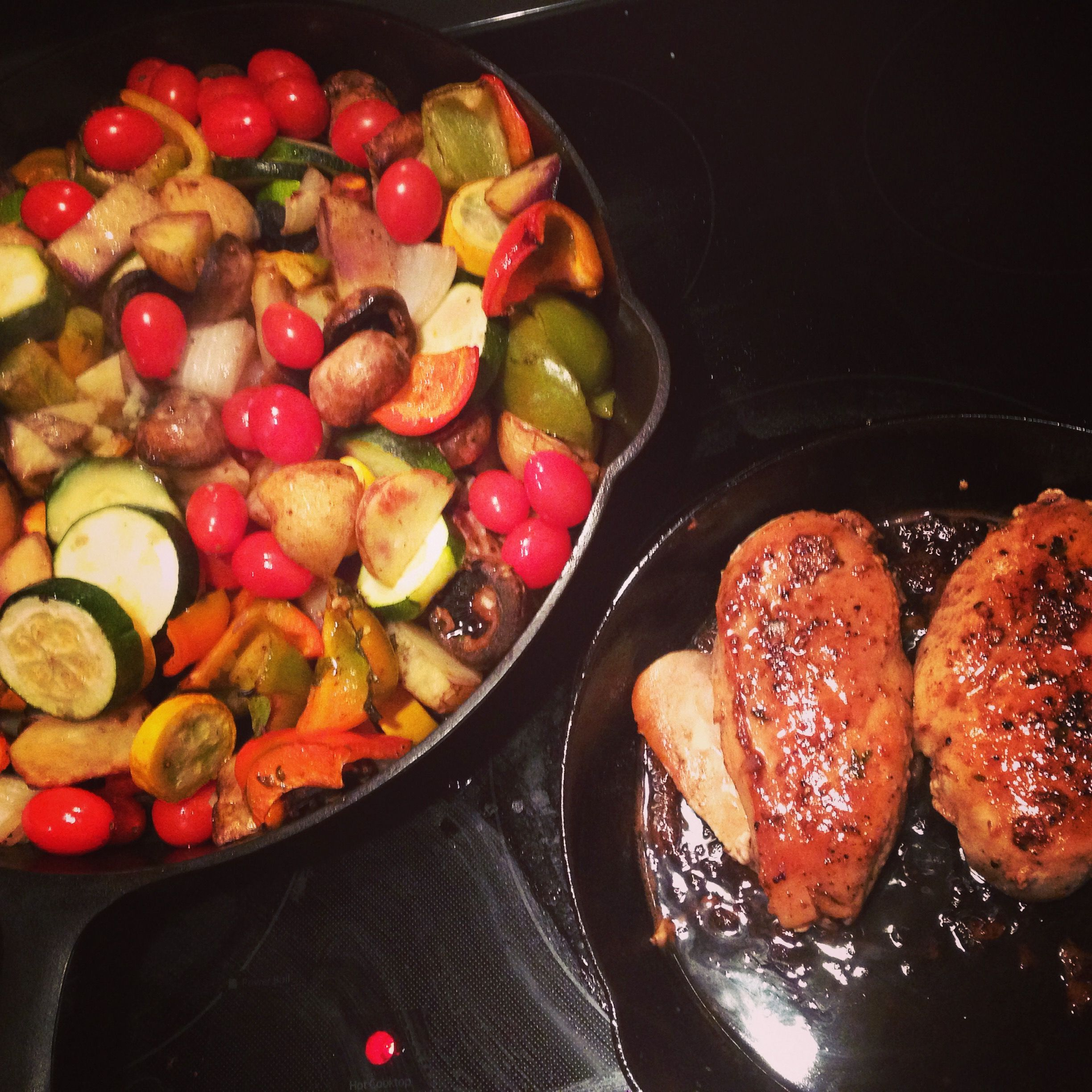 balsamic chicken roasted vegetables in iron mountain 14 rh pinterest com