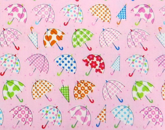 2553B - Lovely Colorful Small Umbrella Fabric in Pink , Star, Heart, Flower , Dot Fabric #smallumbrella 2553B  Lovely Colorful Small Umbrella Fabric in by IKOplusFabric #smallumbrella