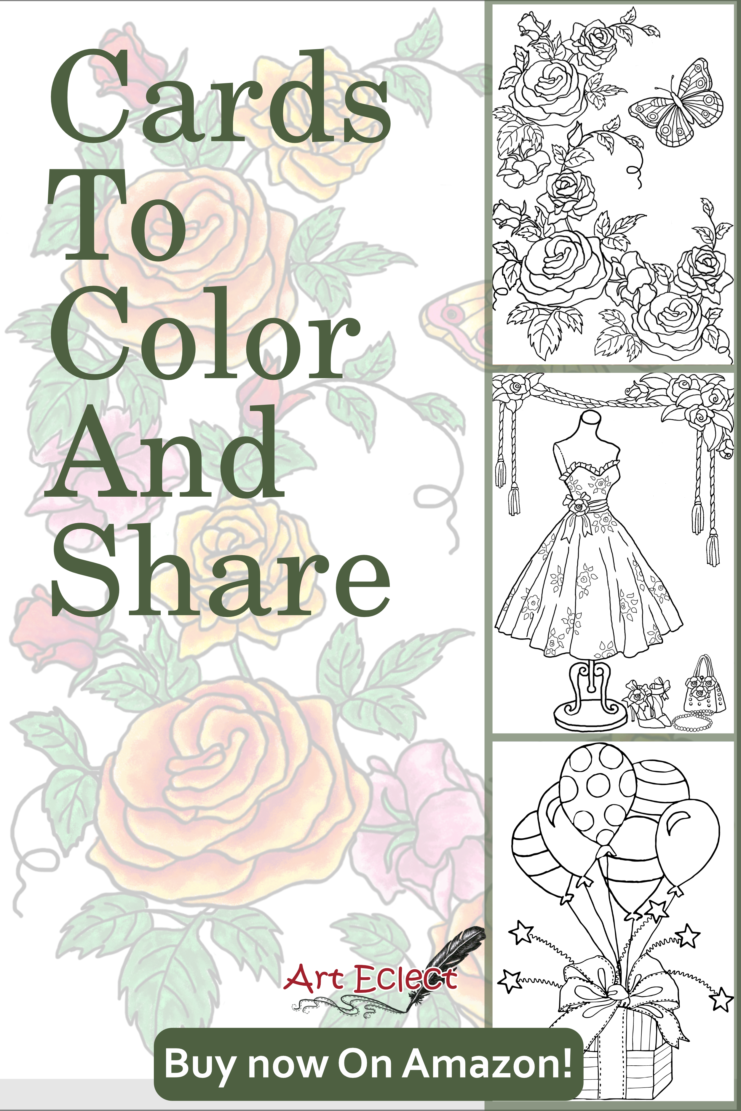 Coloring cards for adults | Coloring birthday cards ...