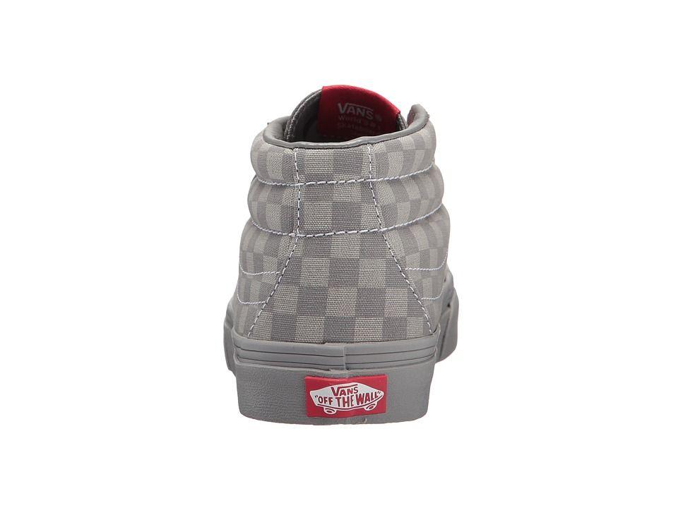 c4e9a65dd3f Vans Kids SK8-Mid Reissue V (Little Kid Big Kid) Boys Shoes (Mono  Checkerboard) Gray Gray