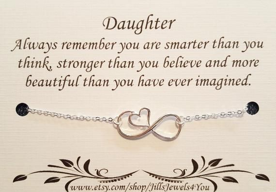 Daughter Necklace To From Mom Inspirational Gift Birthday Christmas