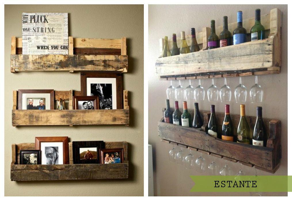 Resultado de imagen para canastillas de madera Alle Pinterest - muebles de pared