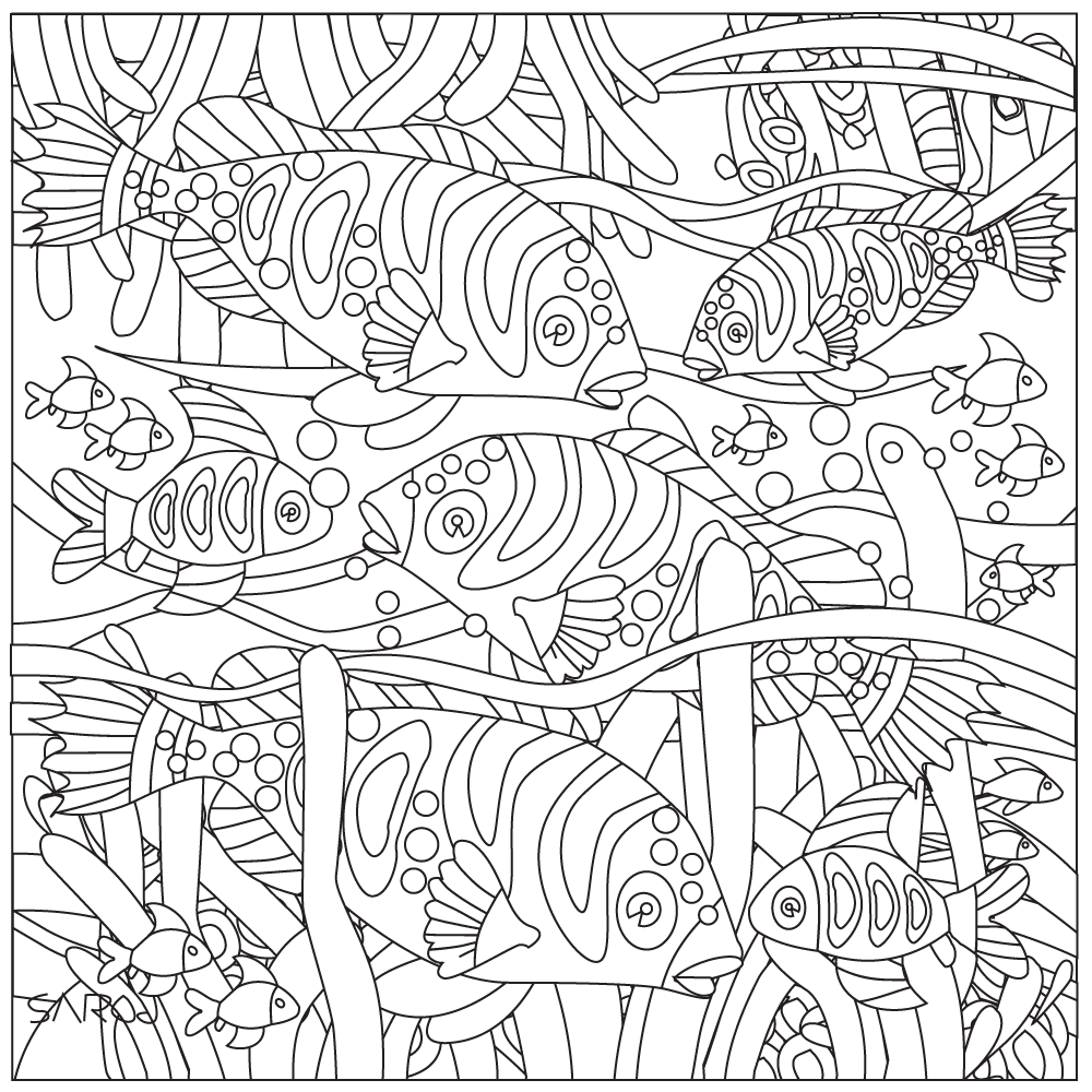 Stress Relief introduce new version of coloring pages- deep sea ...
