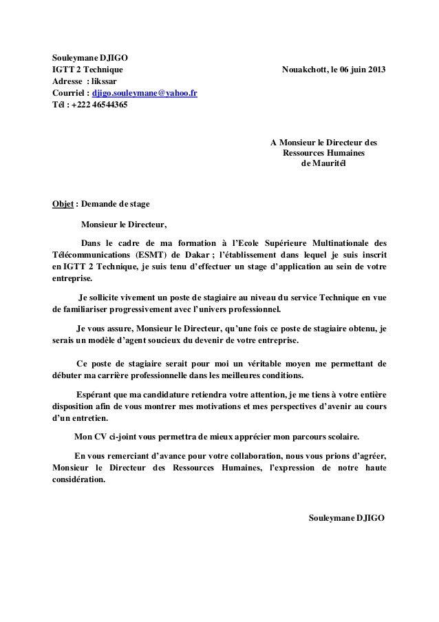 Demande De Stage French Worksheets Find A Job Lettering