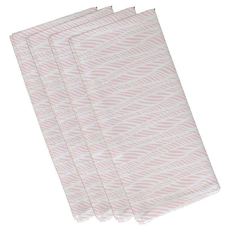 E by Design Rolling Waves Geometric Print Napkin - Set of 4 Pink - N4G769PK6