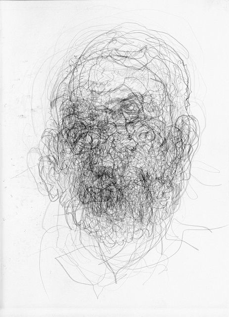 Contour Line Drawing Portrait : Layered blind contour drawings