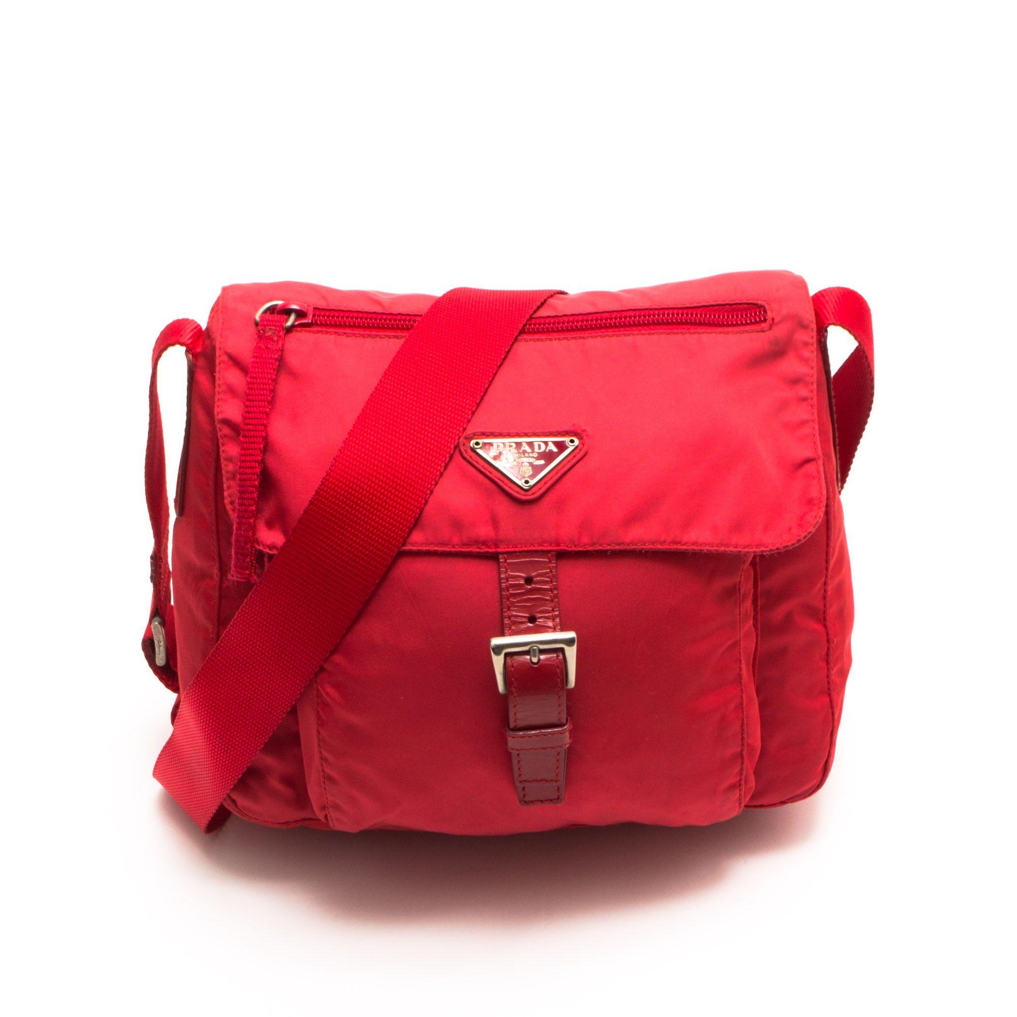 29a1771f562 Prada red Just Love, Messenger Bag, Branding Design, Prada, Corporate  Design,