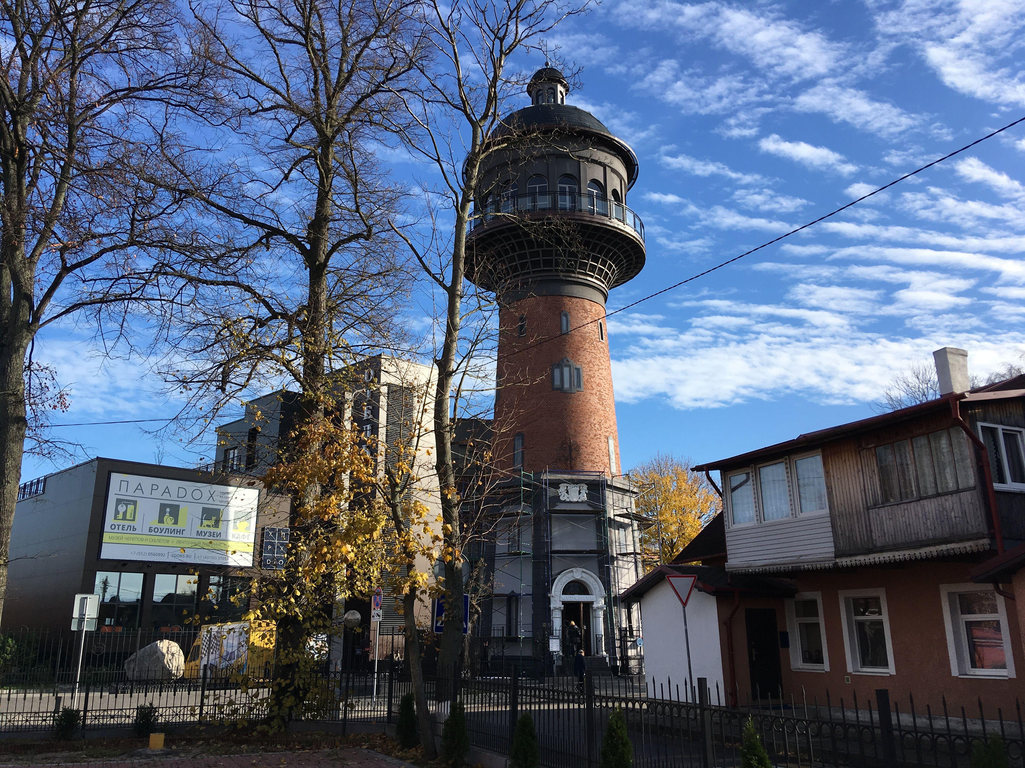 Водонапорная башня как ориентир