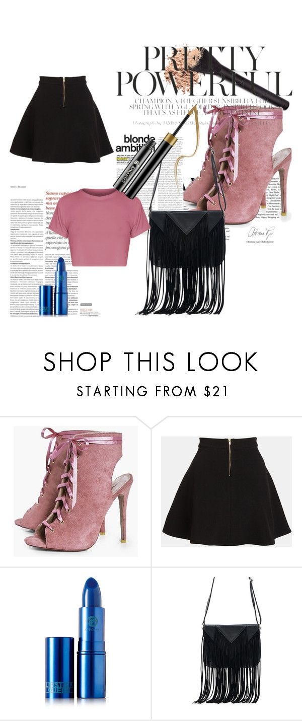 """Blues"" by mardenec ❤ liked on Polyvore featuring Boohoo, Parker, Lipstick Queen and WithChic"