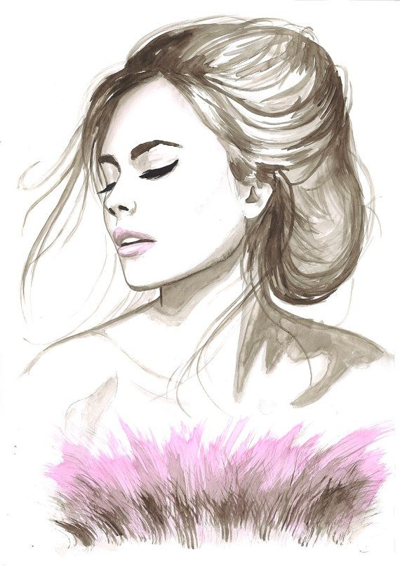 Artist Mysoulfly Watercolor Fashion Illustration Portraits