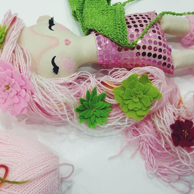 Pale pink princess #mukladolls #handmadetoys #handmadedolls #ooakdoll #dollmaker