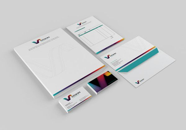 Volares | Corporate and Brand Identity by Dainin Solis, via Behance
