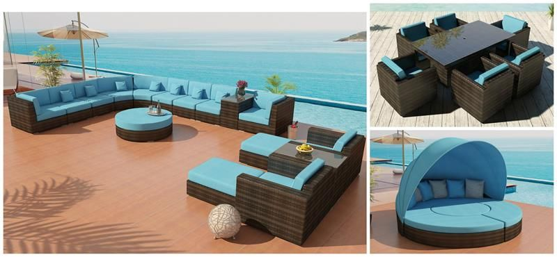 Ordinaire Elegant Bellagio Wicker Patio Furniture, Including Sectional Sofa 24,  Brienne Club Chair Dining Set