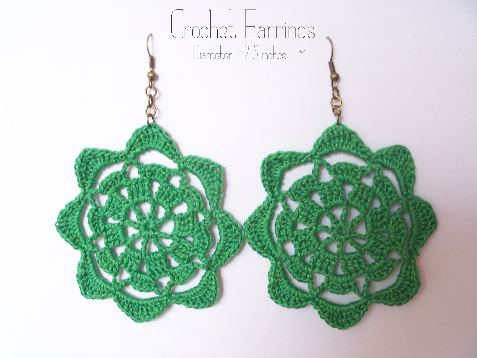 Crochet Earrings Pattern #3 | Flor, Croché y Aretes