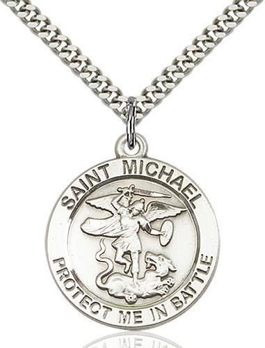 "Archangel Saint /""St Michael Protect Us/"" Pray Prayer Pendant Medal Necklace"