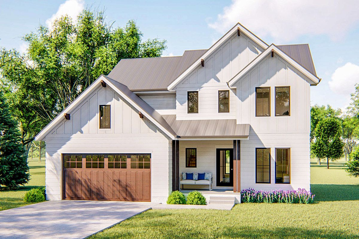 Plan 62763dj Inviting Modern Farmhouse Plan With Upstairs Master Suite In 2021 Modern Farmhouse Plans Craftsman House Plans House Plans Farmhouse