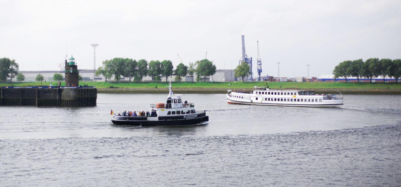 """Beim Bremer Fährtag """"Weserwege"""" könnt ihr die Stadt per Schiff erkunden - ein Ticket, viele Touren."""