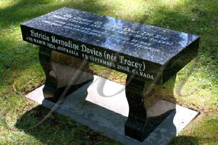 Blue Pearl Granite Memorial Bench Visit Us Http Jbnewall Com Granite Headstones Memorial Benches Granite Memorial