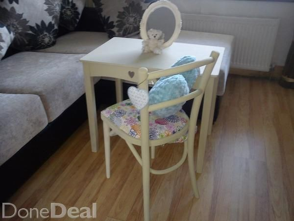 Lovely childs upcycled table and vintage chair suit bedroom or playroom perfect for your little princess matching headboard available in my adds#xtor=CS1-41-[share]