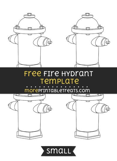 free fire hydrant template small shapes and templates printables