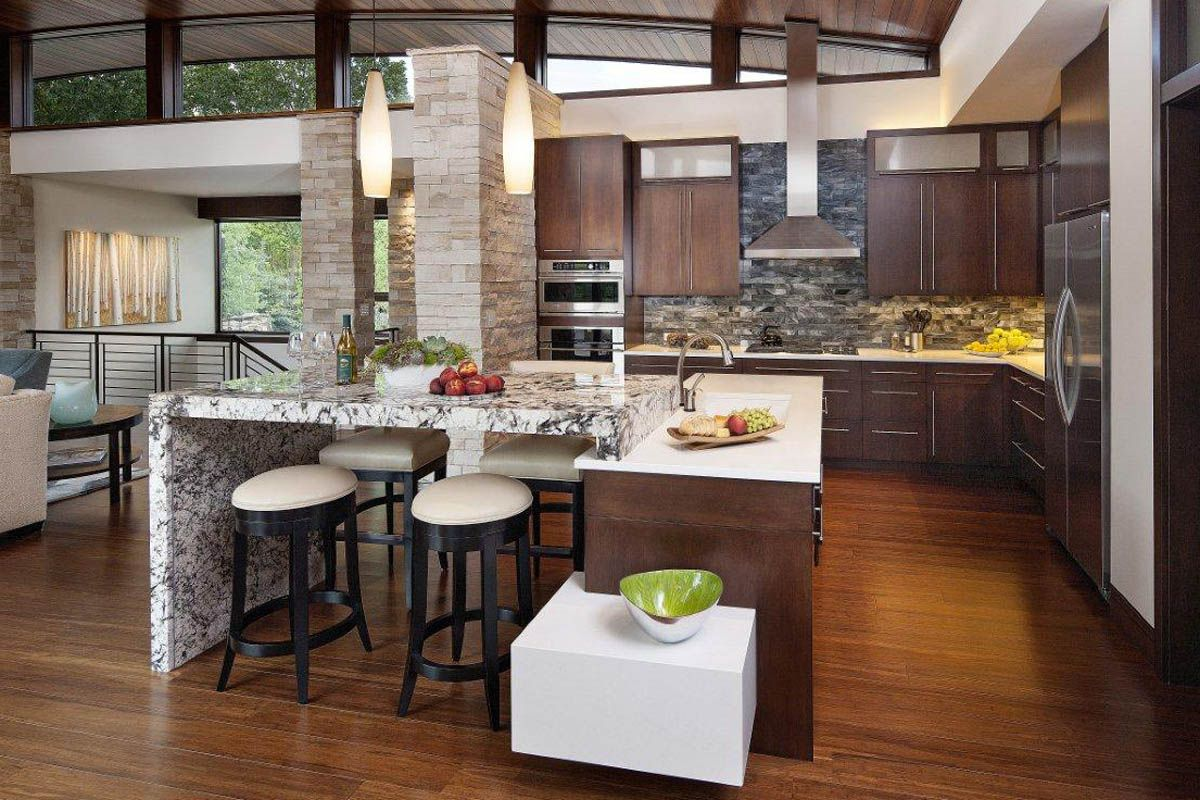 Open Concept Kitchen Designs Enchanting Beautiful And Sleek Modern Open Kitchen  Open Kitchen Designs