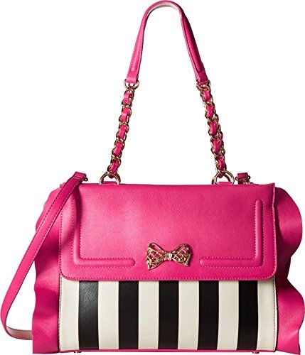 10ea91bf0bc Betsey Johnson Womens Flouncin Around Satchel Stripe Handbag   Want  additional info  Click on the image.  stripes