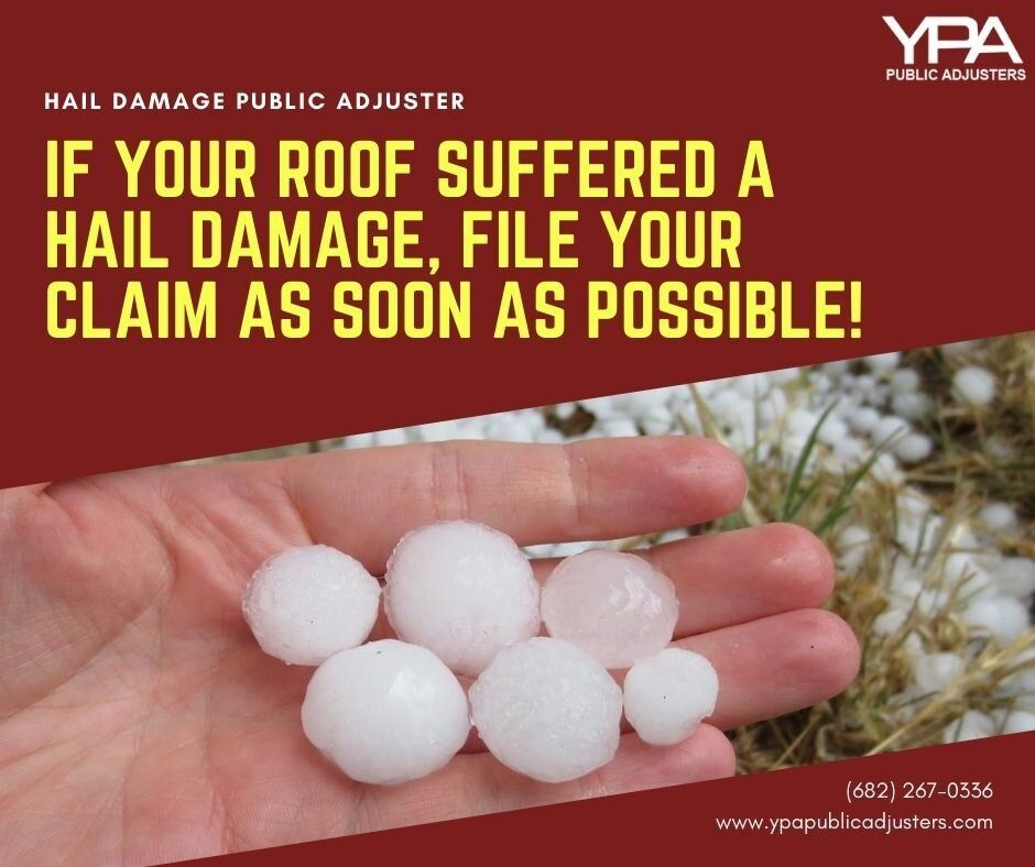 If your roof suffered a hail damage file your claim as