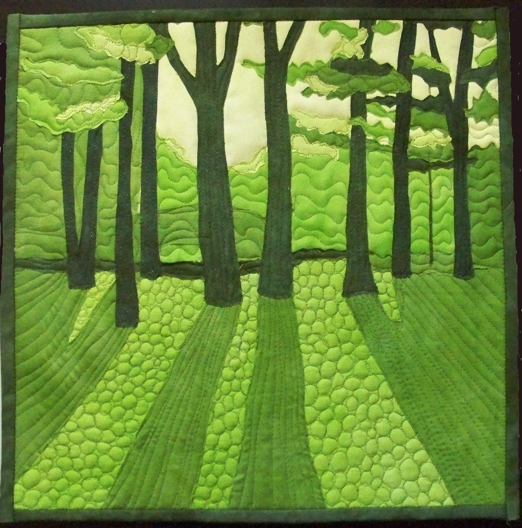 the trees in green. Very effective!through the trees in green. Very effective!