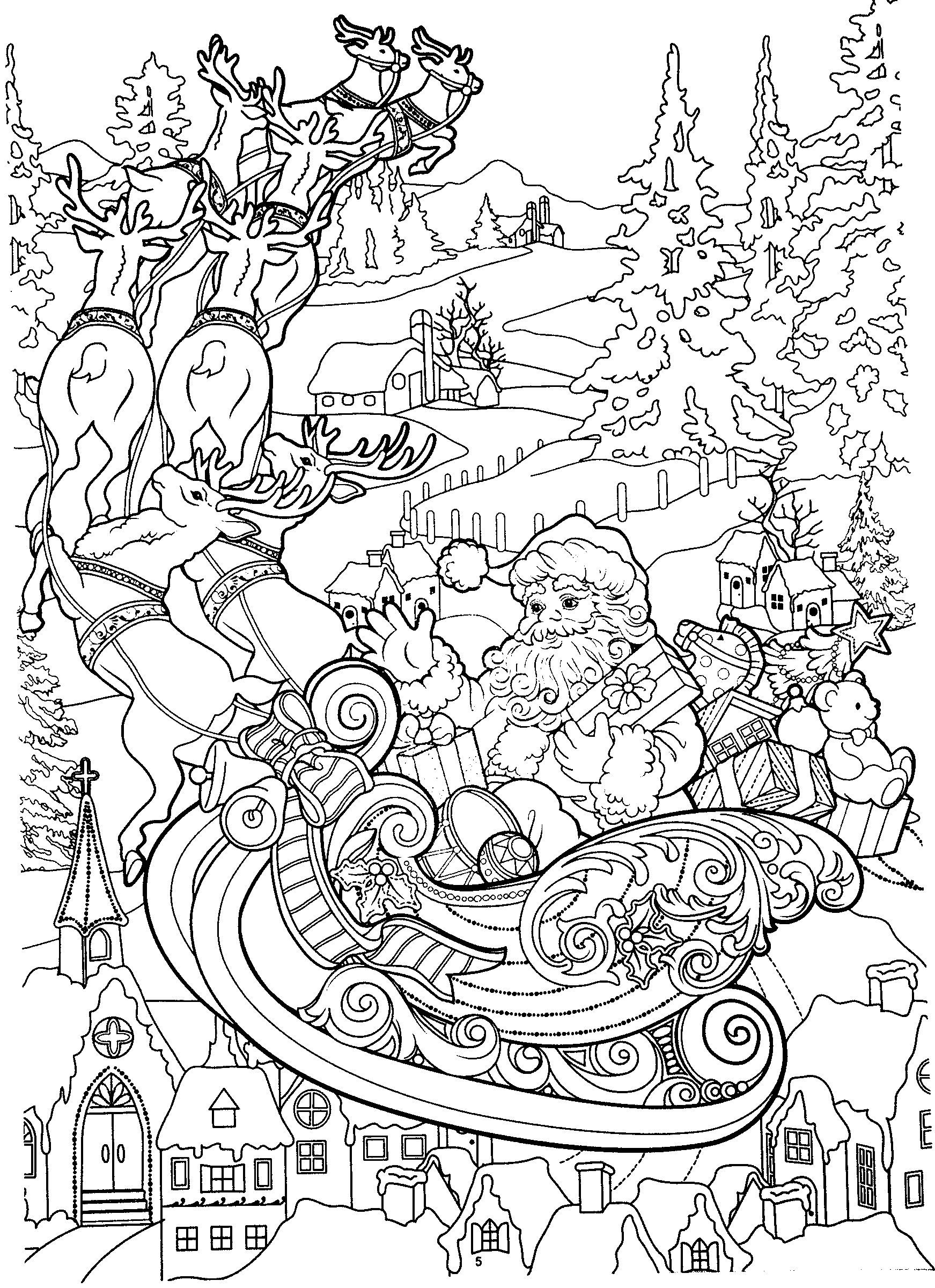 New Year coloring pages, Christmas coloring pages ...