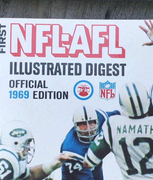 sale retailer e82d9 bffd0 1969 The First AFL-NFL Illustrated Joe Namath Official ...