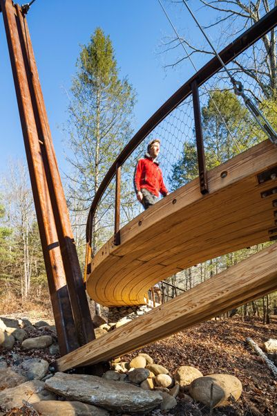 custom pedestrian bridges henry david thoreau footbridge gray organschi architecture