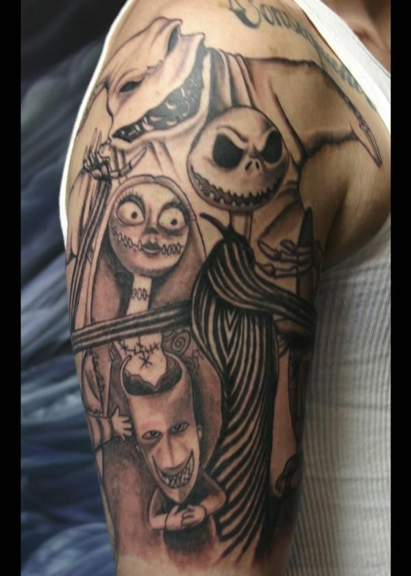 boogie man nightmare before christmas tattoo sleeve