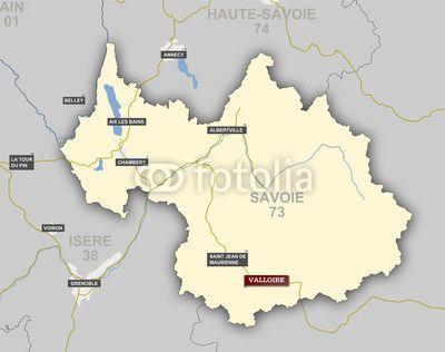 Carte Et Situation De Valloire Savoie Carte Carte Illustration
