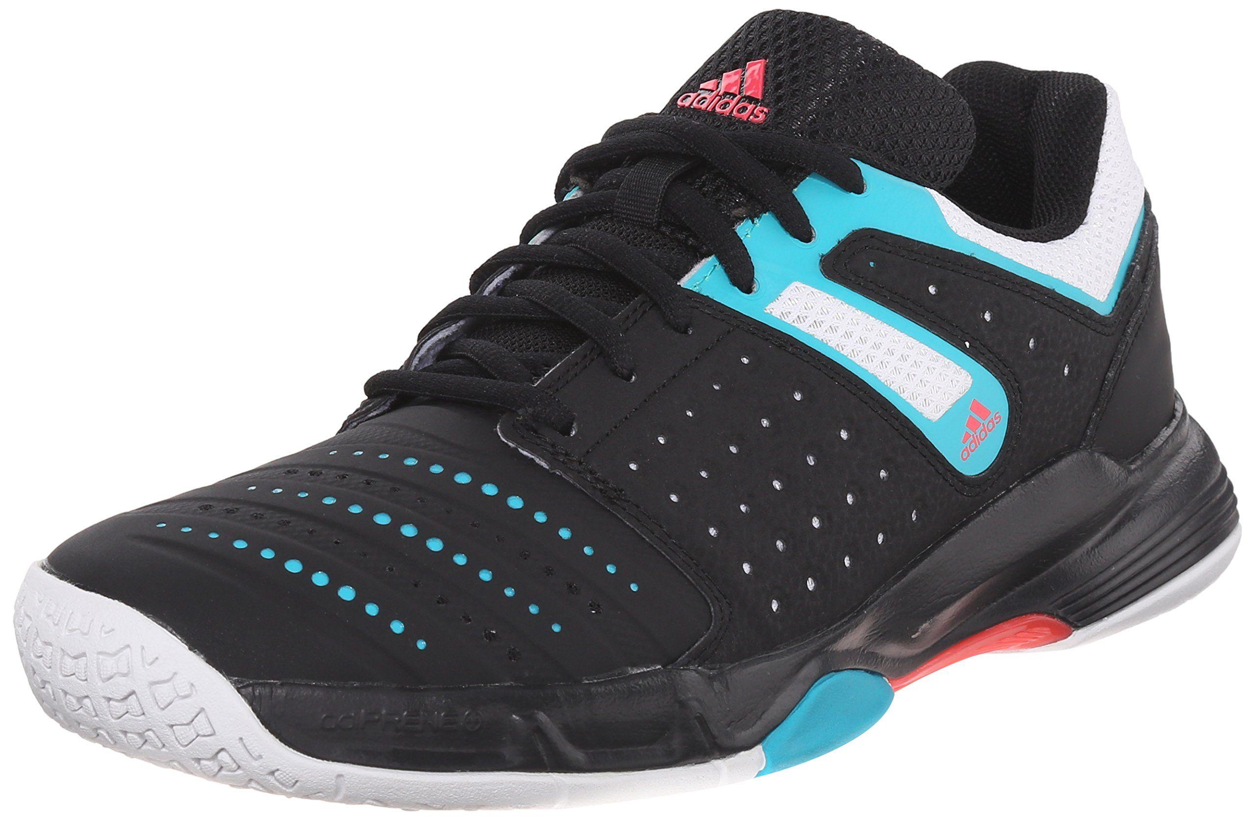 Adidas Performance Women S Court Stabil 12 W Volleyball Shoe Black White Shock Green 8 M Us Volleybal Volleyball Shoes Womens Athletic Shoes Discount Adidas