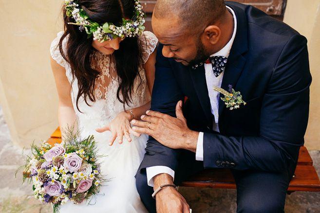 A Rime Arodaky Gown for Bohemian Bride and Her Italian Abbey Wedding | Love My Dress® UK Wedding Blog