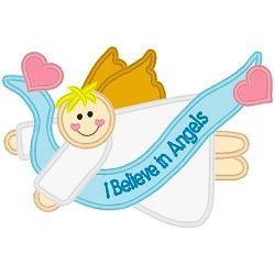 Believe Boy Angel Applique | Angels | Machine Embroidery Designs | SWAKembroidery.com Band to Bow