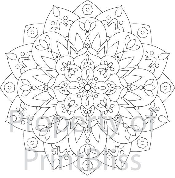 5. Flower Mandala printable coloring page | Mandalas, Mandala para ...
