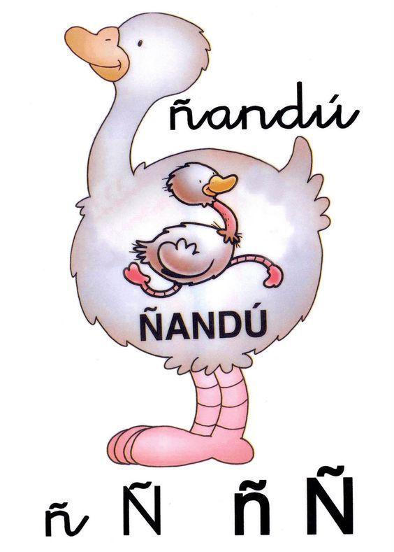 Letra N Minuscula N Mayuscula Nandu Abc Clip Art Smurfs