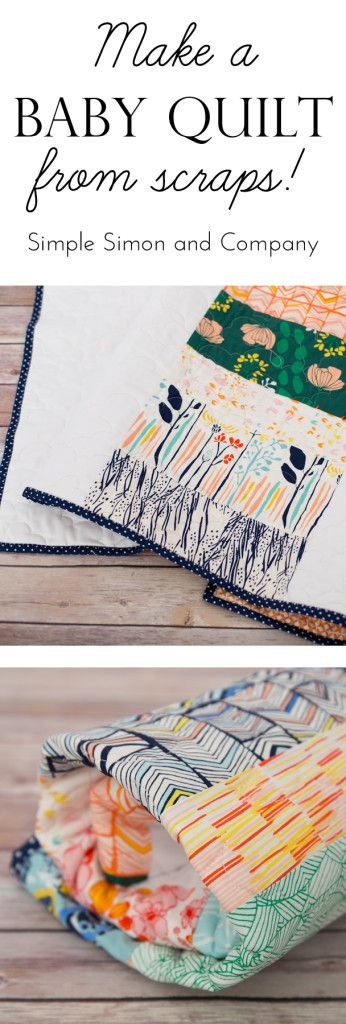 Make a Baby Quilt from Scraps | PATCHWORK & CROCHET | Pinterest ...