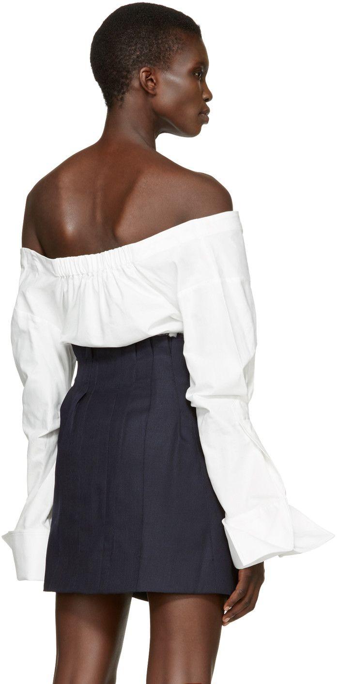 d8c664175ab Jacquemus - White  La Chemise Épaules Nues  Shirt