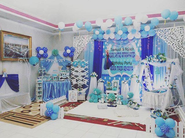Tasmiyah Aqiqah baby Arayyanza n syukuran hari lahir kk Dara.... #latepost #keishararadecoration #tasmiyah#aqiqahdecoration #aqiqah#naikayun#partyplannersamarinda #dekorasisamarinda #sweettablesamarinda#sweetcornersamarinda #samarinda