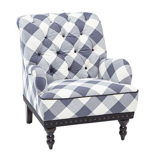 Chas Blue Buffalo Check Armchair Armchair Plaid Chair
