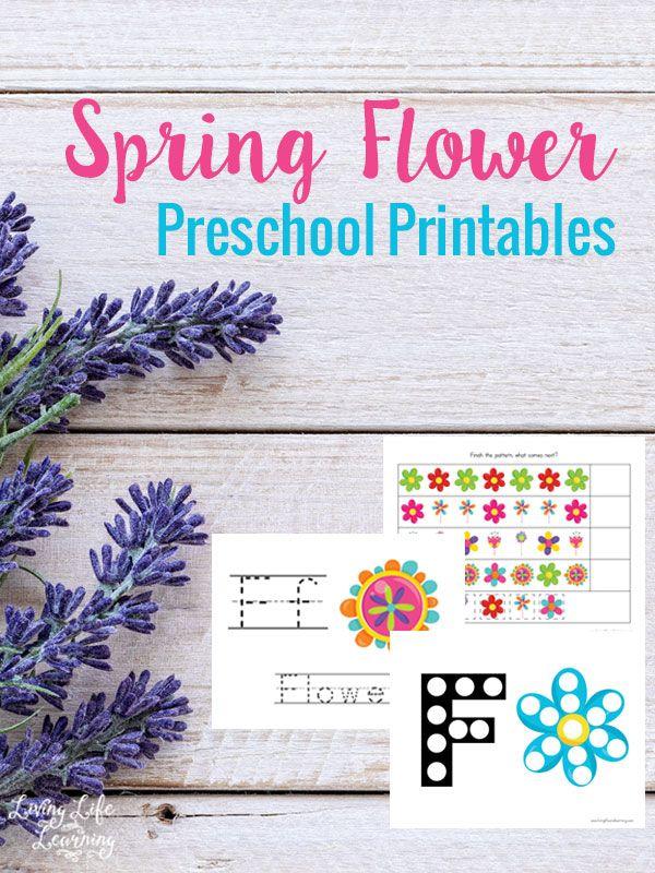 Spring Flower Preschool Printables Preschool printables, Spring - new preschool coloring pages rain