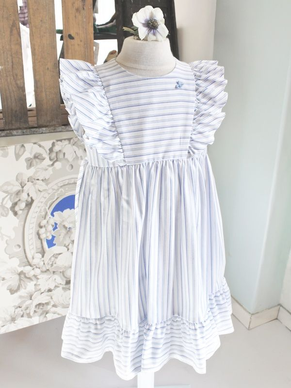 d9ebf2badac9 Madickenklänning blå vit randig - Barnkläder - 100 years | Kids ...