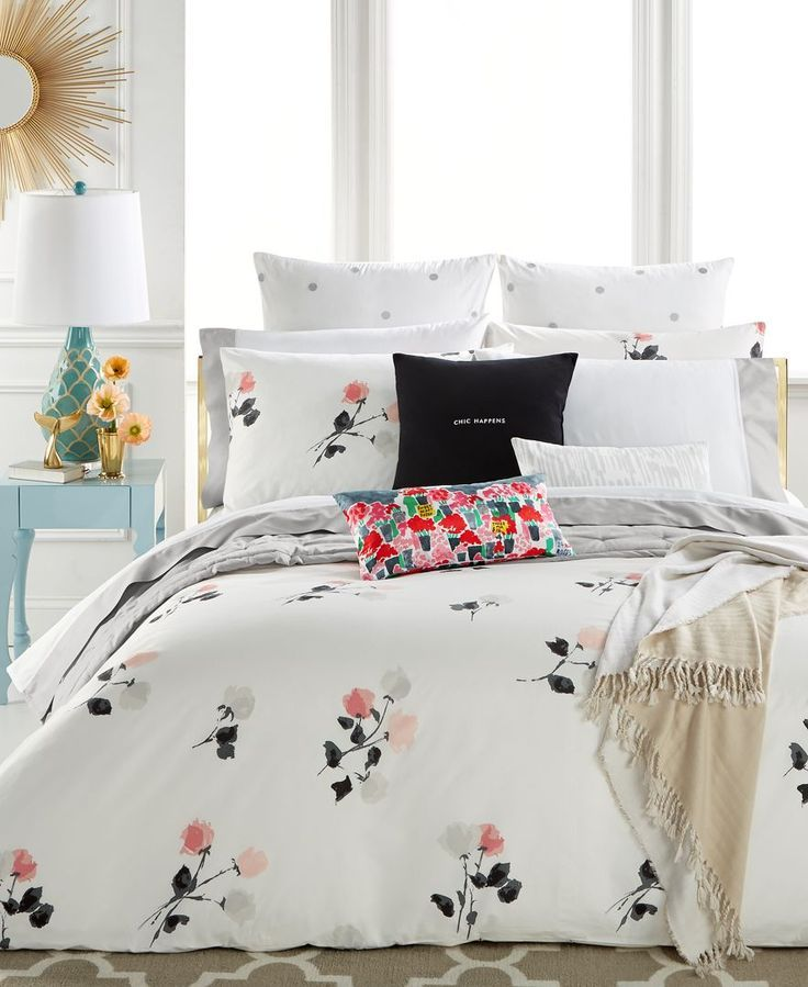 kate spade new york Willow Court Blush Full/Queen Duvet Cover Set, a ...