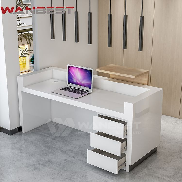 Drawer Of Reception Counter Reception Desk Beauty Reception Desks Reception Counter