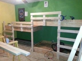 small room with built in bunk beds - Google Search