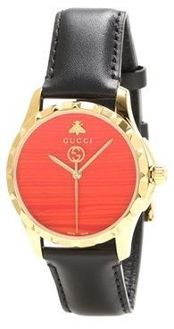 a2a4eeb6dc5 Gucci G-Timeless Le Marché Des Merveilles 38mm leather watch