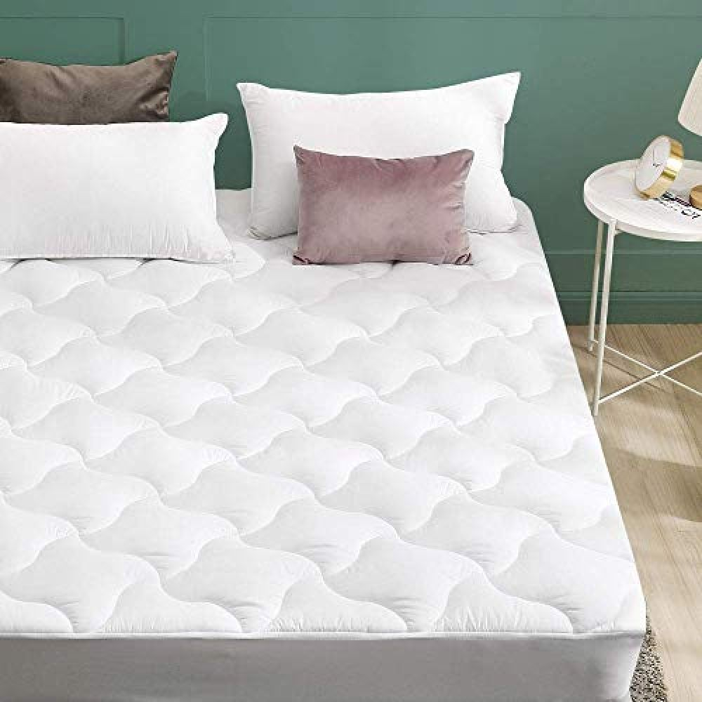 Viewstar Mattress Pad Cover Quilted Overfilled Soft Down Alternative Mattress Topper Up To 21 Inch Extra Deep Pocket Cooling Breathable And Hypoallergenic M Comfort Mattress Mattress Pad Cover Luxury Mattresses